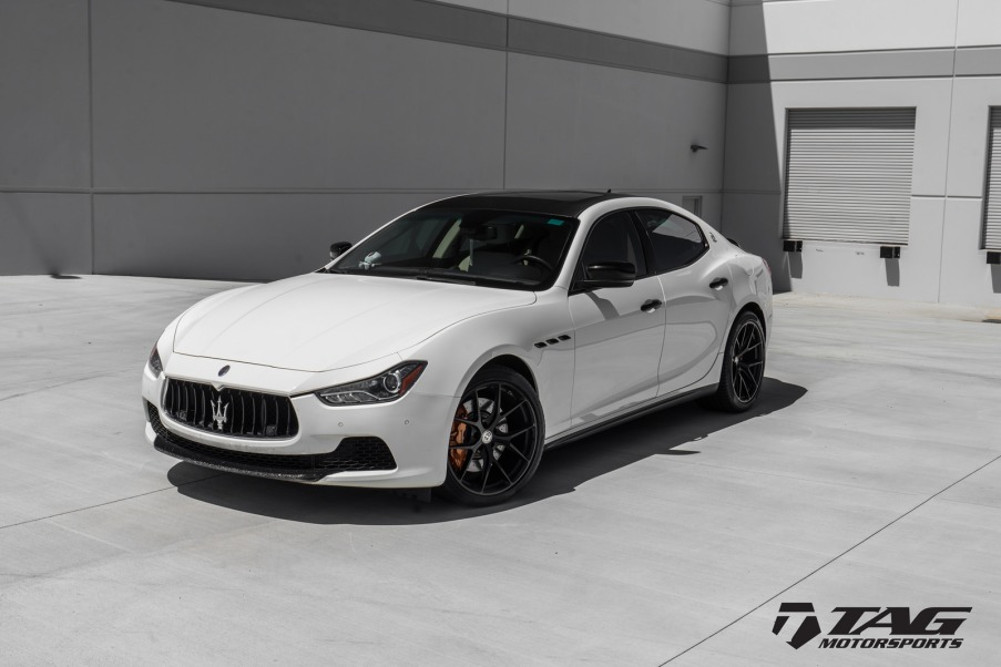 Maserati Ghibli with HRE P101 Wheels