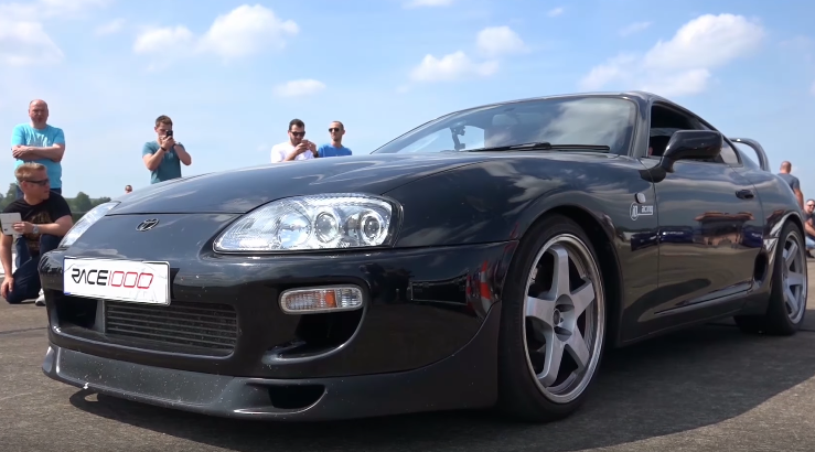 Toyota Supra Launch Control Sound Acceleration! (Video