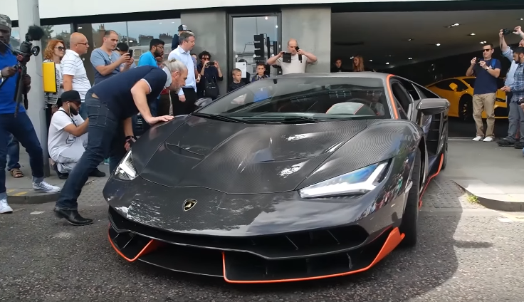 2 5 Million Lamborghini Centenario Gets Delivered In London Video