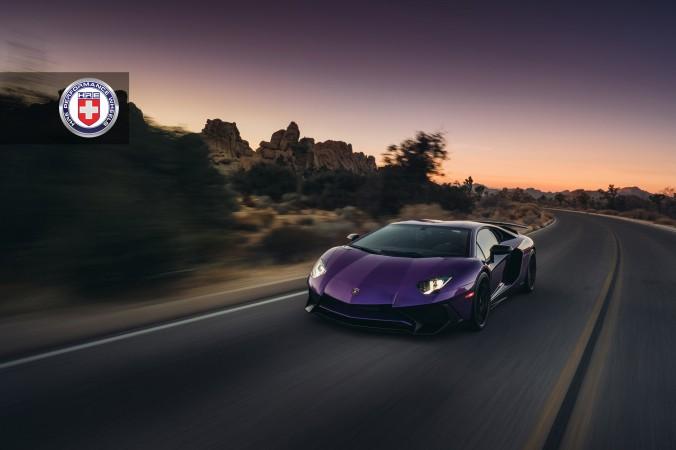 Lamborghini Aventador SV with HRE