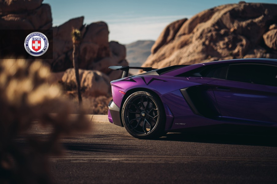 Lamborghini Aventador SV with HRE Wheels